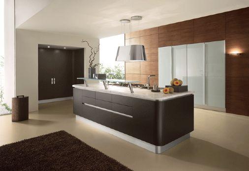 15 fotos de cocinas integrales modernas color chocolate for Colores paredes cocinas modernas