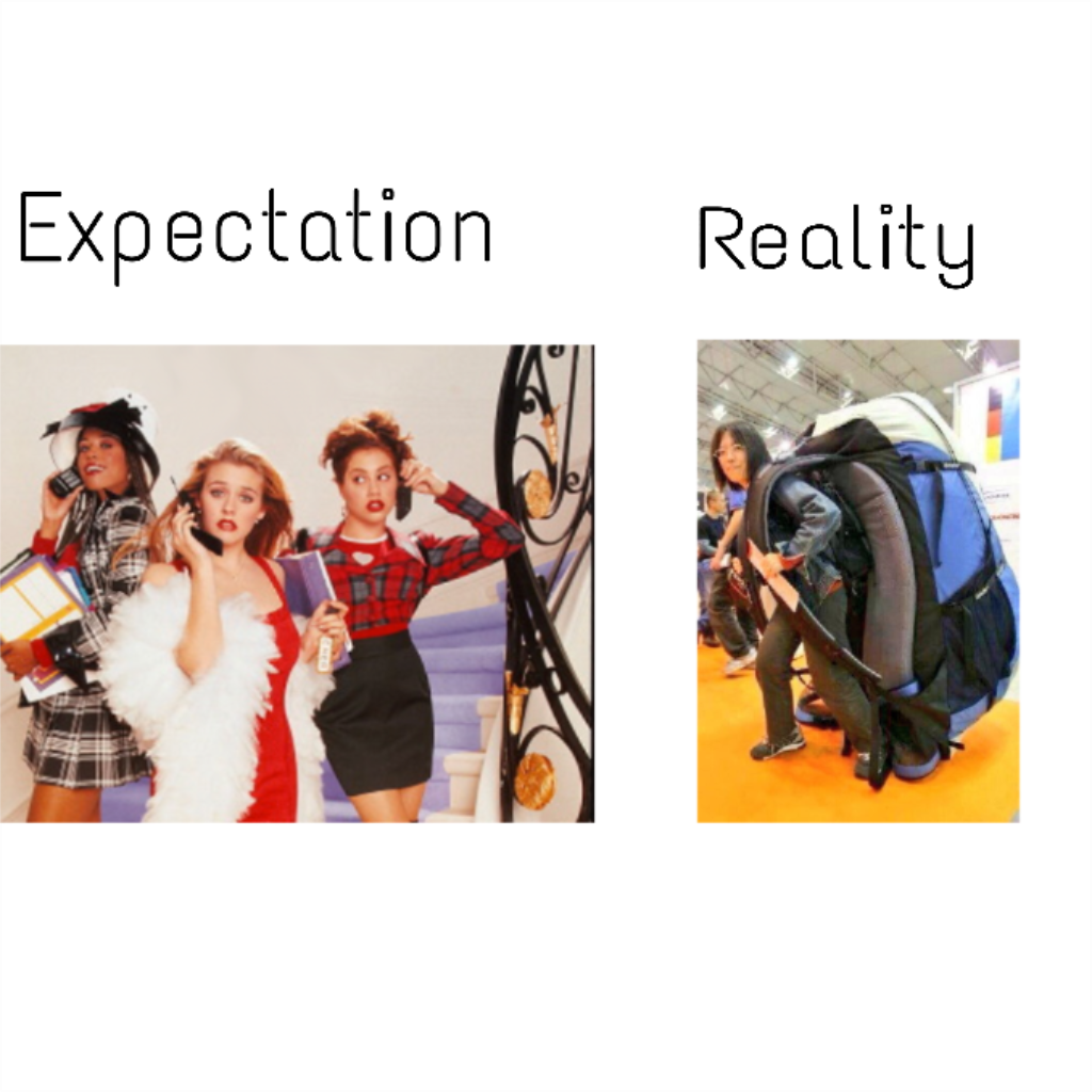 college expectations vs reality Studies show that college students are psyched to enter the workforce after  graduation let's all just take a deep breath and check out some.