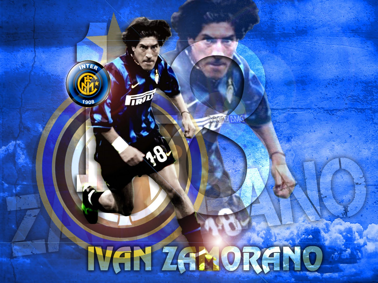 ivan zamorano wallpaper, chile footballer, madrid, inter milan