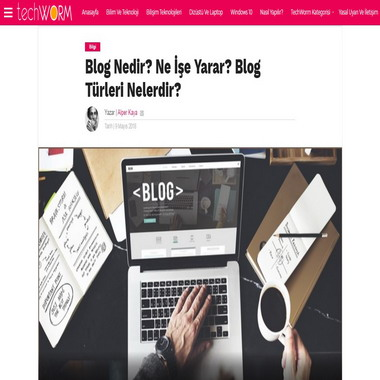 tech worm com - blog nedir ne işe yarar