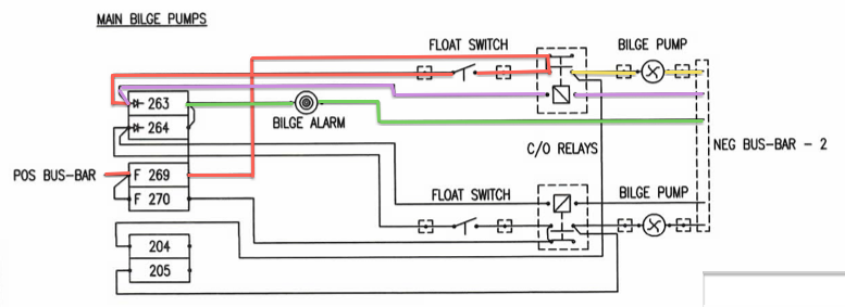 Wiring Diagram For Float Switch On A Bilge Pump : S v lux l bilge pump wiring and indicator enhancement