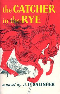 First edition book cover of 'Catcher in the Rye'. Book cover artist E.Michael Mitchell.