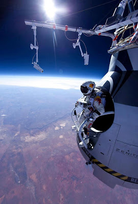 AUSTRIAN BREAKS SOUND BARRIER IN RECORD SPACE JUMP