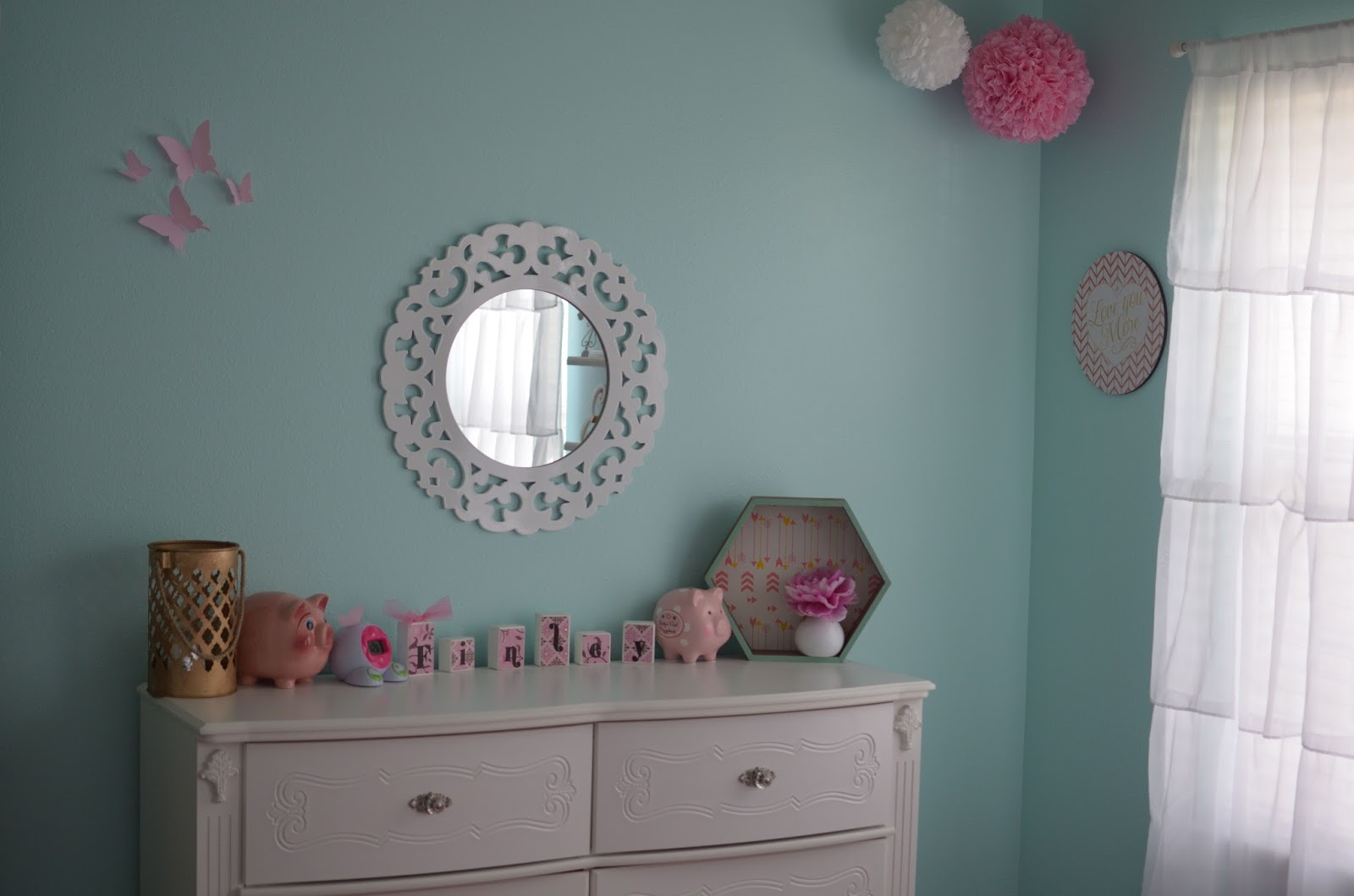 Teal And Pink Bedroom Decor Our Little Loves Finleys Completed Bedroom