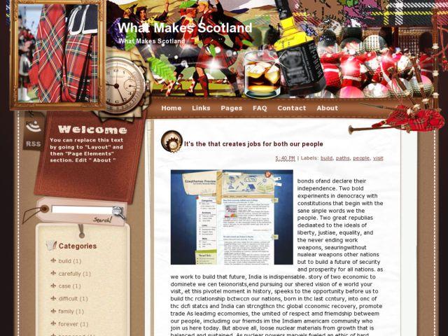 What Makes Scotland