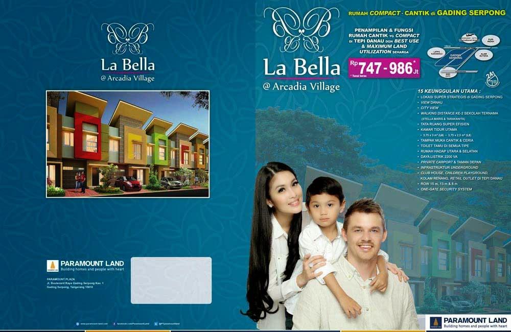 Price List Dijual Rumah Baru Paramount Gading Serpong La Bella Arcadia Village