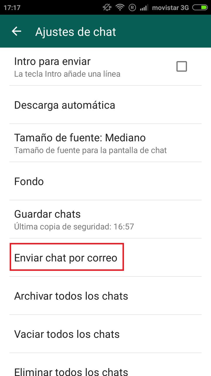 Enviar conversación de whatsapp a un correo electrónico. - Jota ...