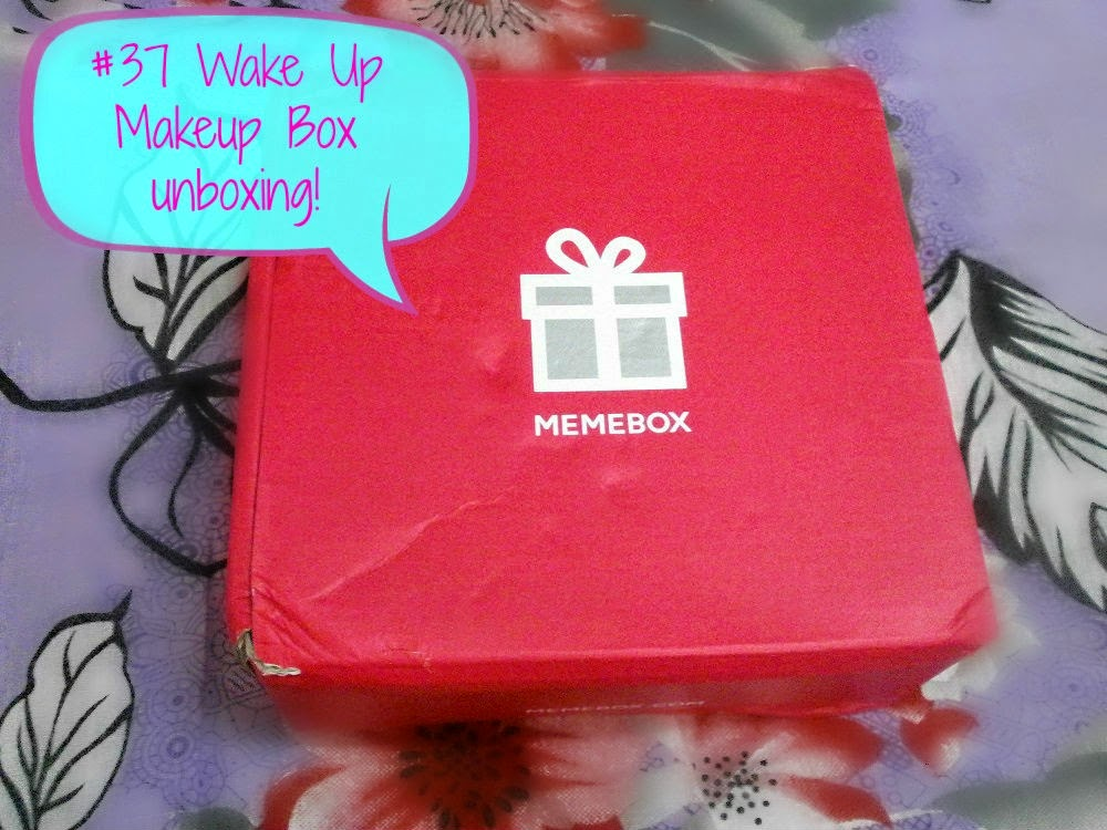 Memebox #37 Wakeup Makeup Box Unboxing and review