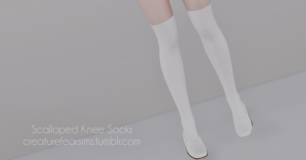 My Sims 3 Blog Scalloped Knee Socks By Creaturefearsims