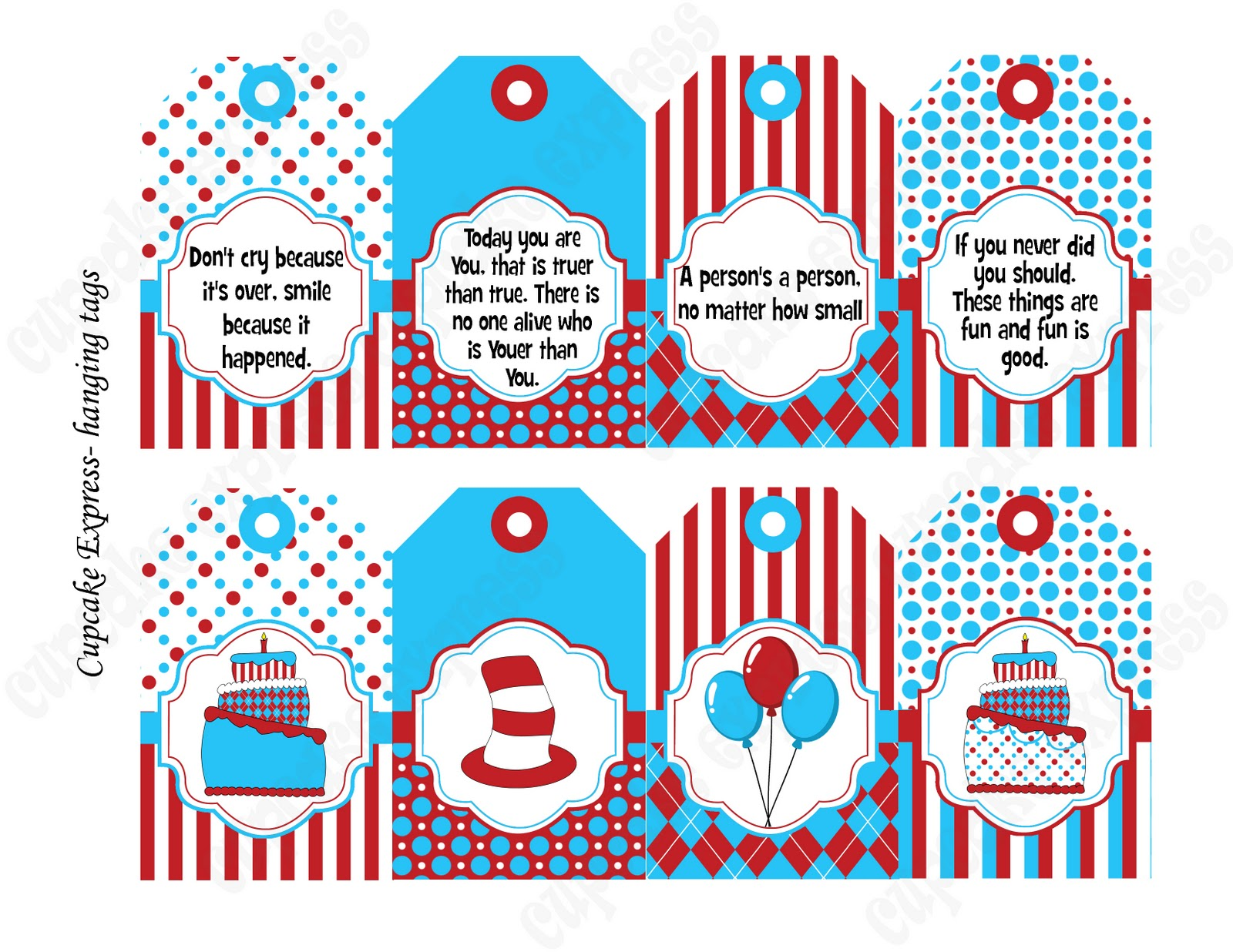 This is an image of Hilaire Free Dr Seuss Birthday Printables