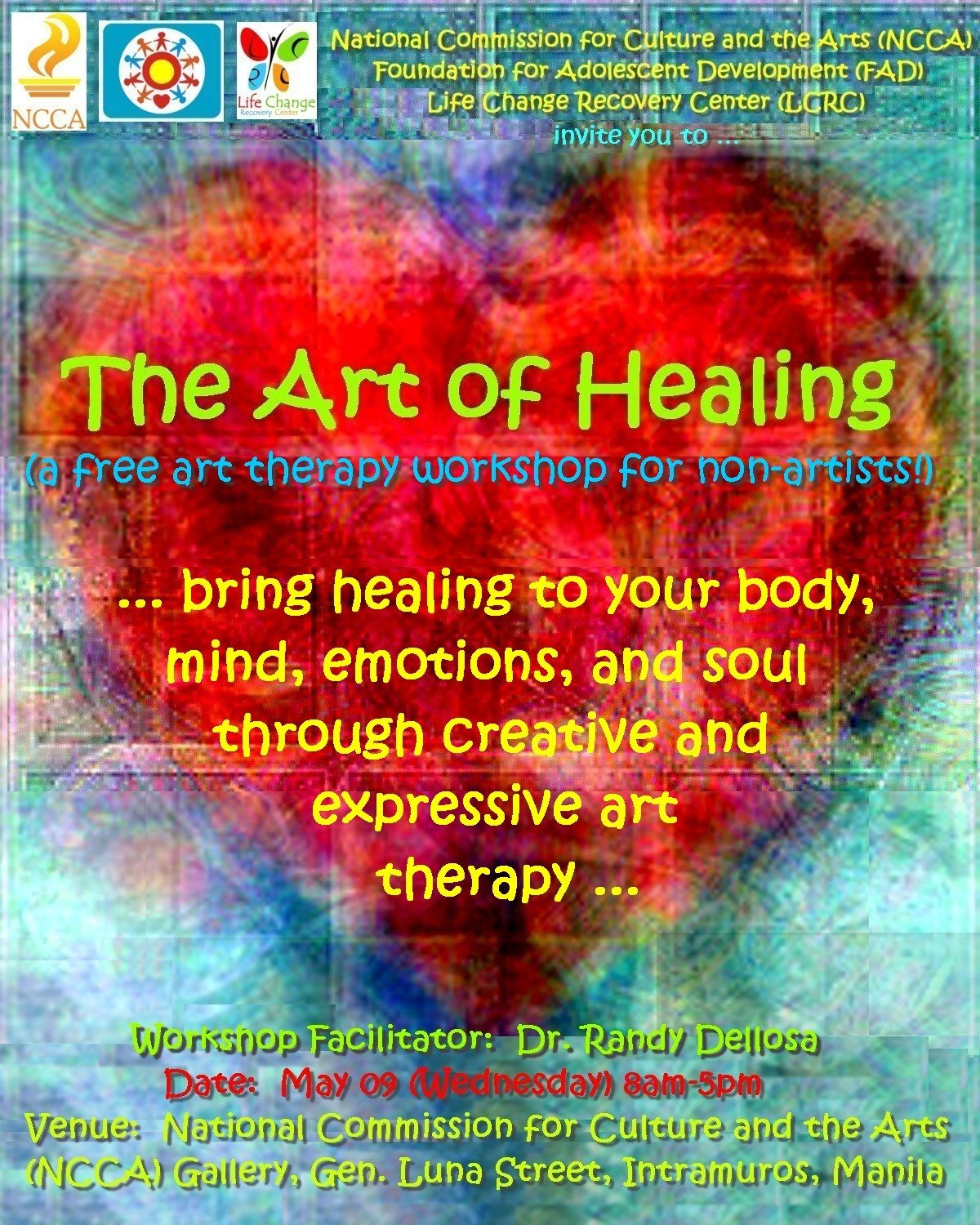 Art For Non Artists Randy Dellosa Art Therapy Workshop For Non Artists In The