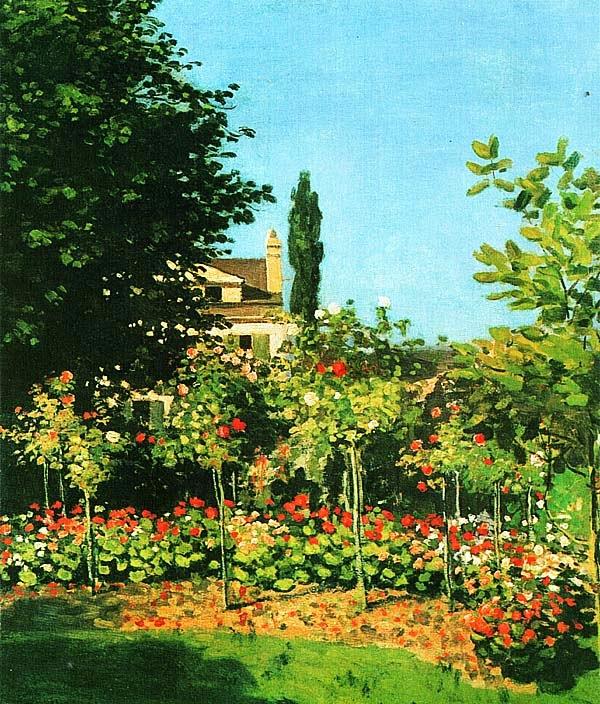 Клод Моне. Цветущий сад в Сент-Адресс. Ок. 1866.