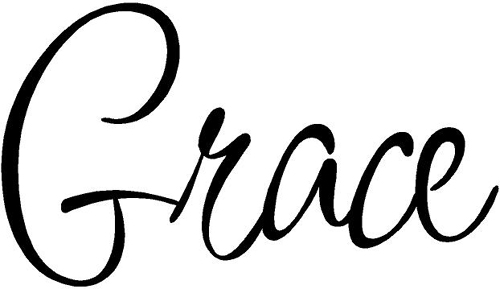 Precious Grace on Grace Bubble Letters