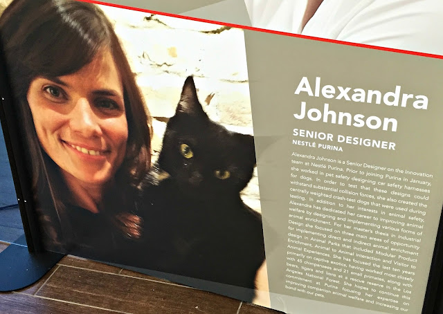 Poster display of expert Alexandra Johnson and bio at Purina Better With Pets summit