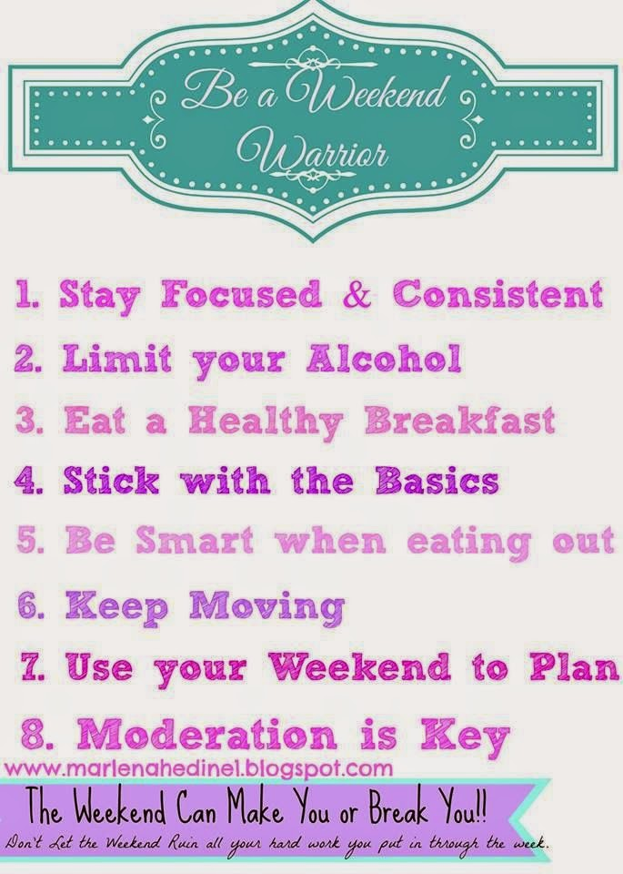 tips to stay on track over the weekend