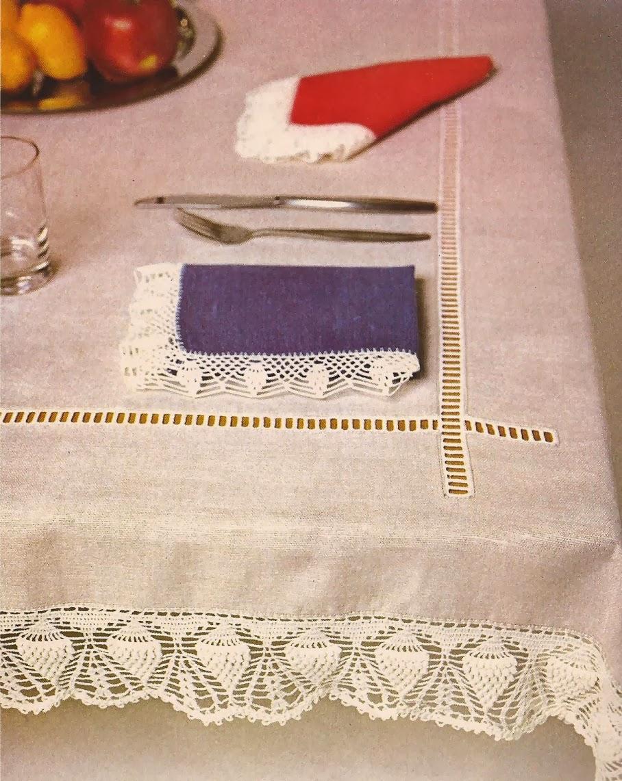 Puntas para Mantel a Crochet
