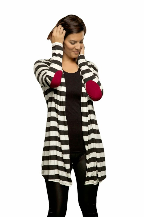 http://taralynnsboutique.com/products/red-elbow-patch-cardigan