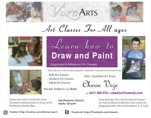 VIZEarts - Art classes for all ages in Sydney with Fine Artist & Art Tutor Cherie Vize