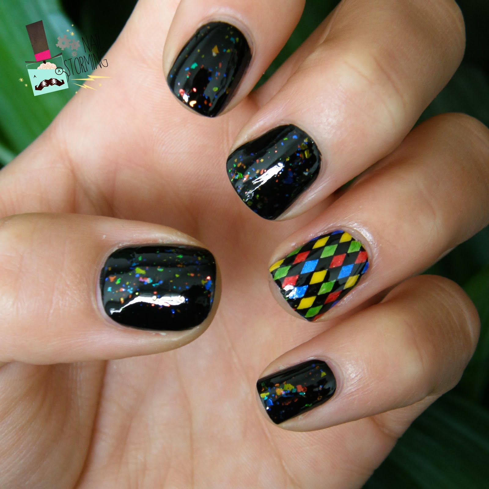 Pop & Cuticule Nailstorming # Carnaval Festival Picture Polish