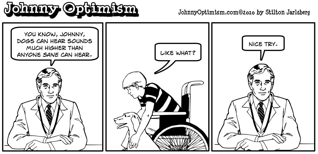 Johnny optimism, johnnyoptimism, doctor, hearing