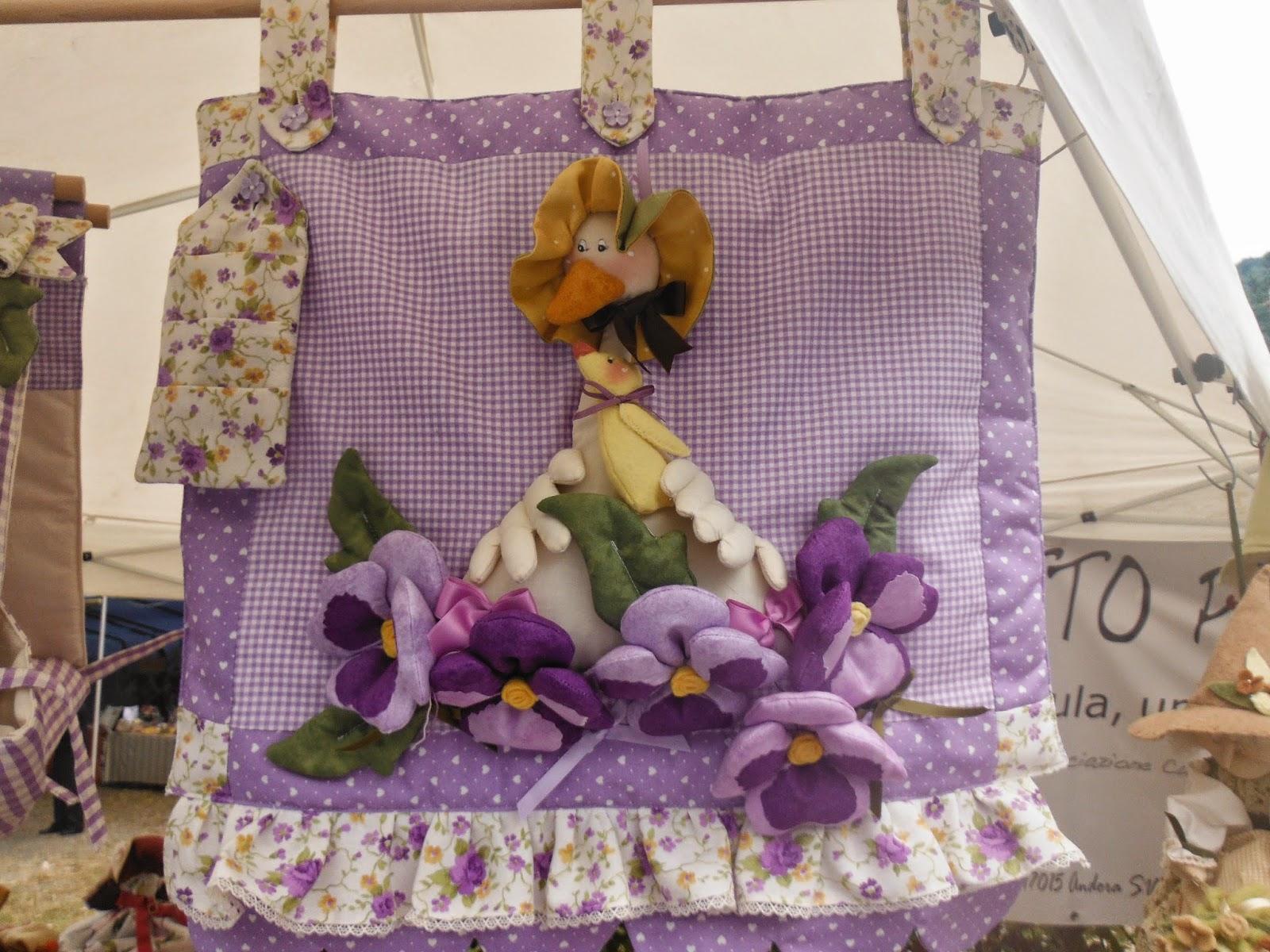 Magie di cera e di stoffa papera violetta co for Copriforno in stoffa