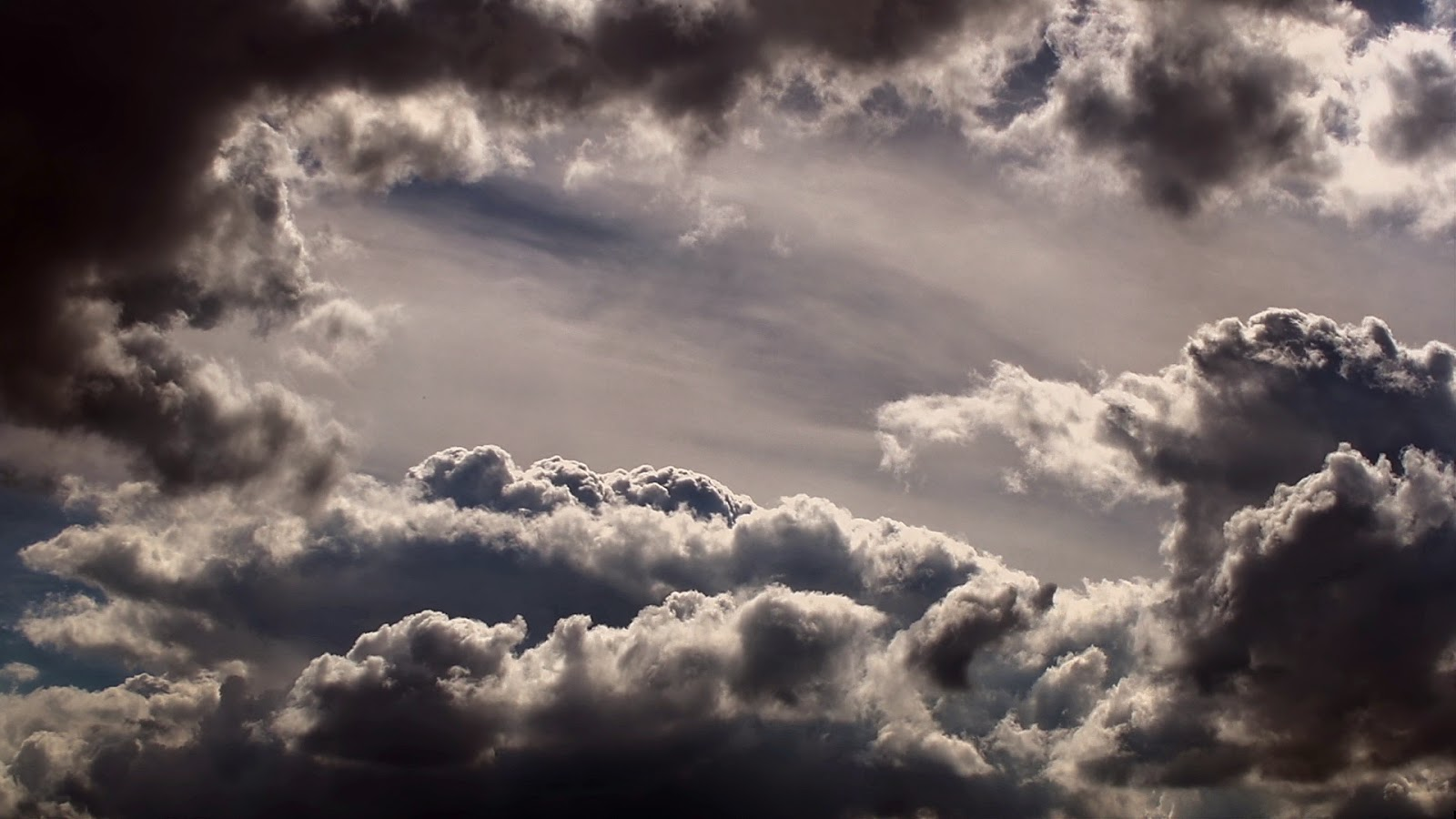 various types of clouds are present in this completely free to use stock video clip