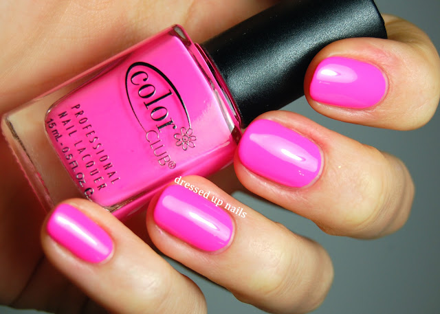 Dressed Up Nails - Color Club Spring 2013 Fiesta collection - Flamingo