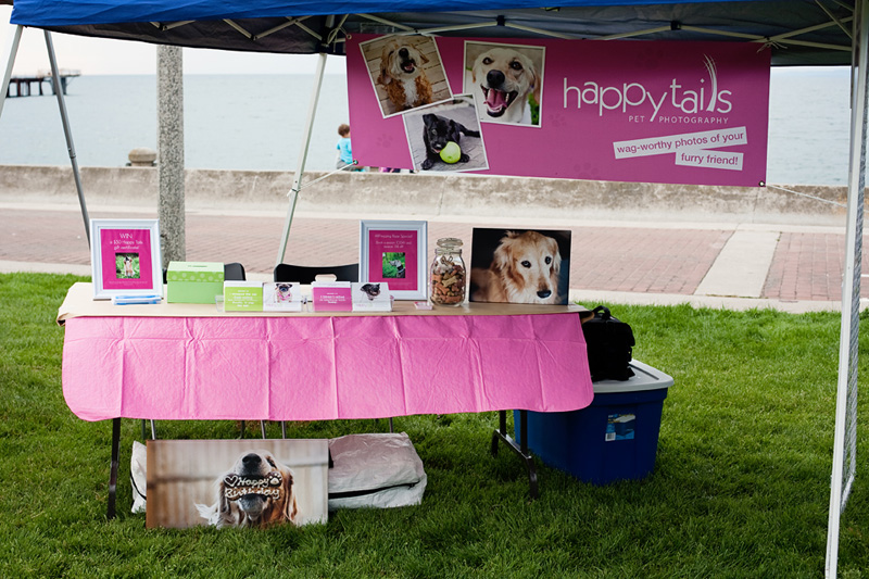 Happy Tails Pet Photography booth at the 2012 Burlington Humane Soceity ARFmazing Race fundraiser in Spencer Smith Park, Ontario..