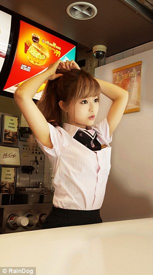 Cutest McDonald's Goddess seen in Taiwan