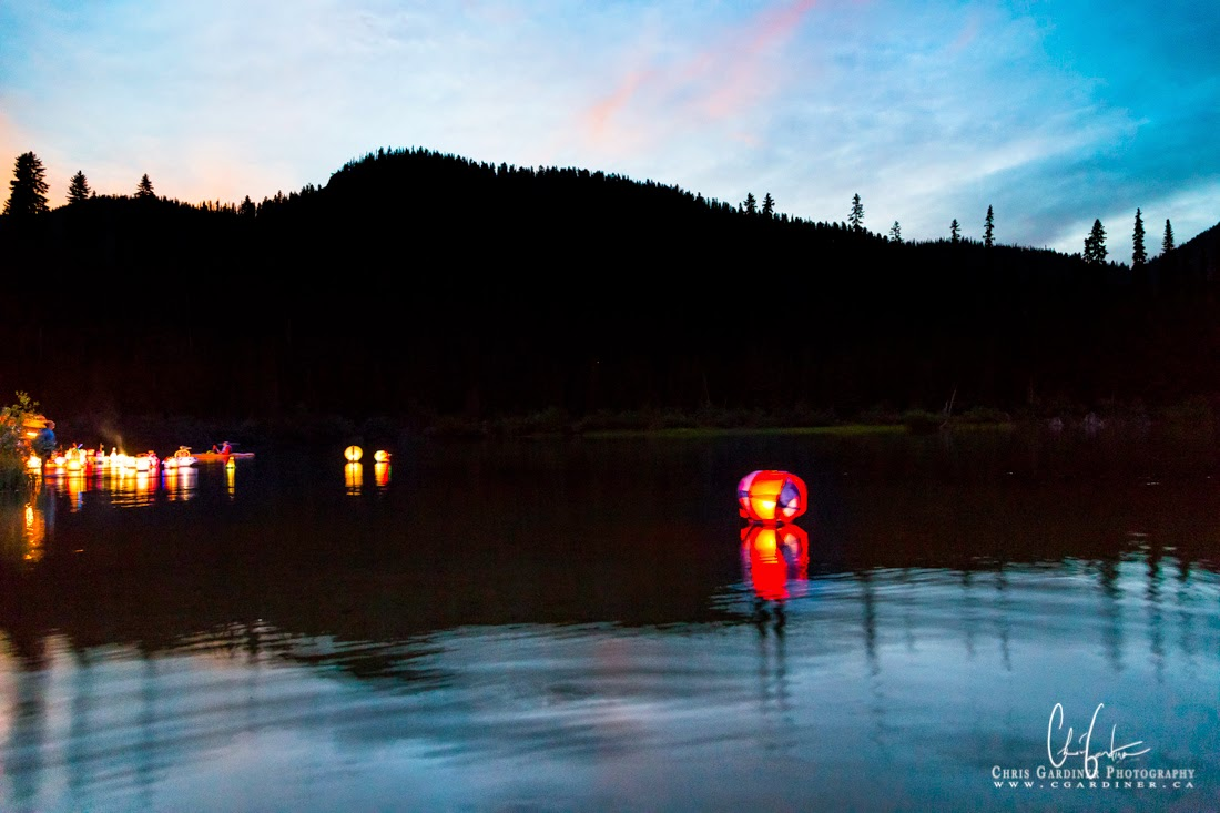 Chris Gardiner Photography captures Lanterns on Lightning Lake in EC Manning Park