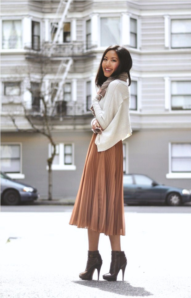 weekend wear pleated skirt 9to5chic