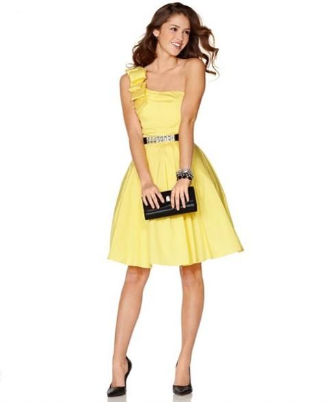 Vestidos de noche amarillos para gorditas