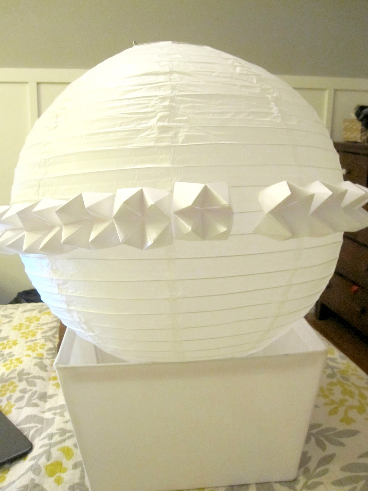 Beautifully contained: fortune teller paper lantern