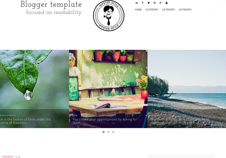 Simplex BLG Blogger Template