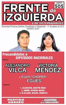 BOLETA DEL FIT PARA LAS ELECCIONES DEL 11 DE AGOSTO