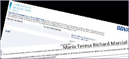 Delega o teu voto en Mª Teresa Richard Marcial na XXA do BBVA