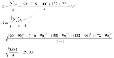 Menghitung rataan, simpangan baku, dan koefisien keragaman