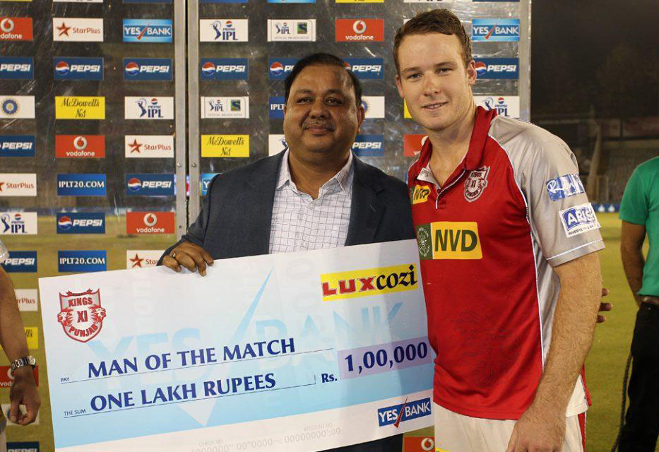 David-Miller-Man-of-the-Match -KXIP-vs-RCB-IPL-2013