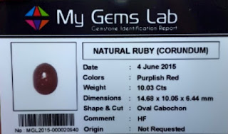 Natural Ruby Corundum Big Size+Memo
