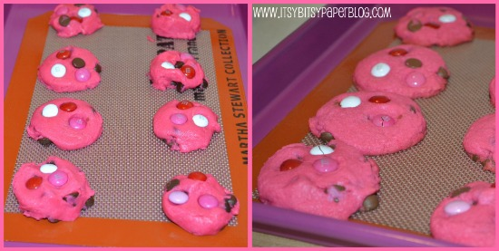 Scoop onto a cookie sheet with a cookie scoop or roll in balls. Press ...