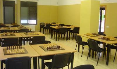 Sala de juego del Club Ajedrez Mollet