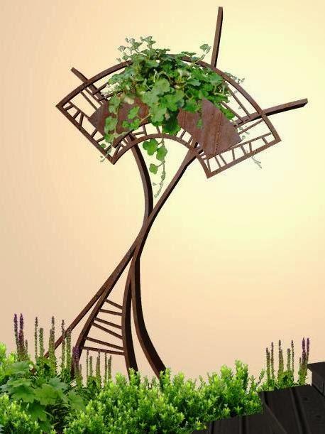 adorno de metal para un jardin de lujo acabado hierro oxidado arbol magico foto 1