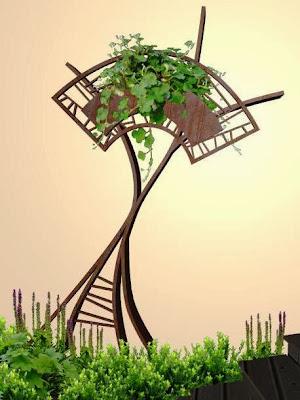 adornos en hierro para jardines - diseño jardines de lujo - arbol magico foto 1