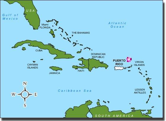 Map Of Florida And Cuba.Puerto Rico Cuba Florida Map