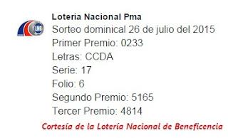 Sorteo-Domingo-26 de-Julio-de-2015-Loteria-Nacional-de-Panama