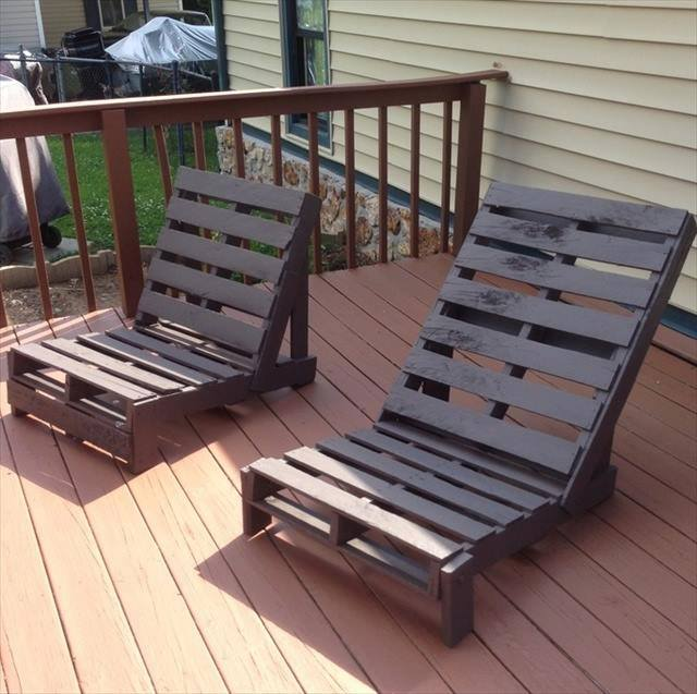 DIY Pallet Lounge Chair Outdoor Furniture