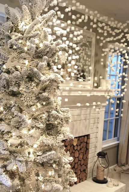 Noël blanc et ses chamallow