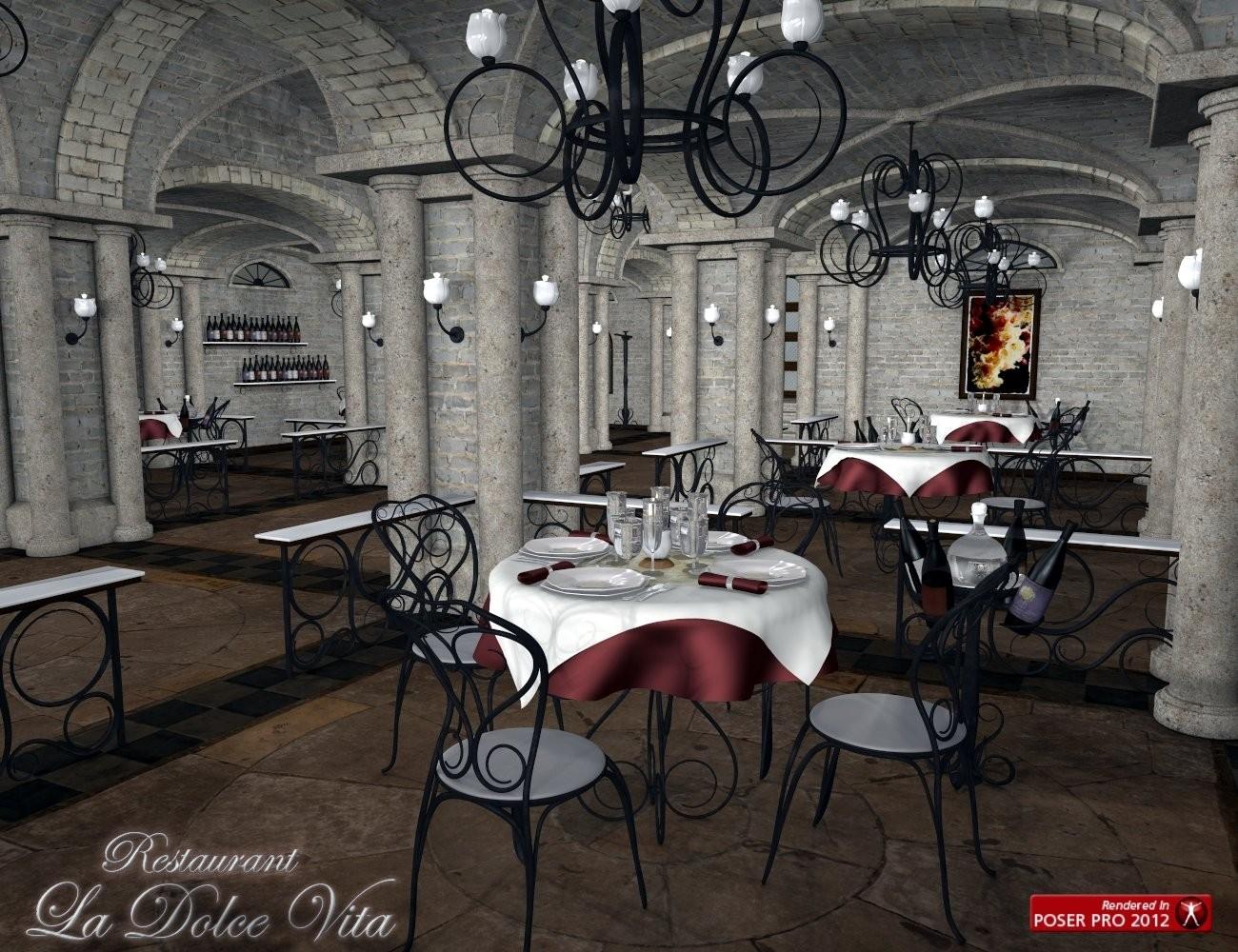 3d Models - La Dolce Vita Restaurant and La Dolce Vita Grand Piano