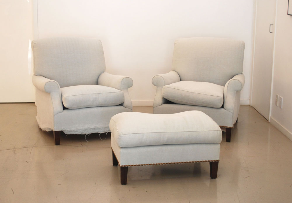 classic design: Before & After: Armchairs & ottoman