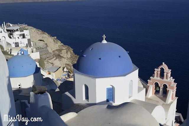 Grèce grec voyage tourisme dômes bleus